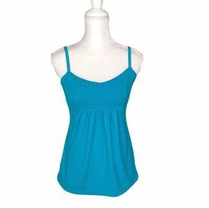 Lululemon teal turquoise run yoga tank 4 loose fit
